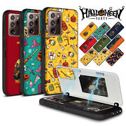 Halloween Custom Cartoon Magnetic Card Wallet Case For Galaxy Note20 Ultra S10