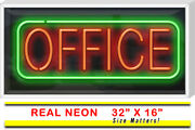 Outdoor Office Neon Sign   Jantec   32 X 16   Lawyer Banker Accountant Light