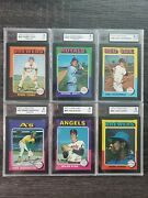 1975 O-pee-chee Opc Baseball 625/660 Near Complete Set W 6 Graded Cards See Pics