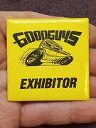 Vintage Goodguys Rod And Custom Car Show Exhibitor Pin Button 1980s