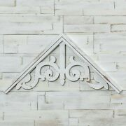 New Farmhouse Vintage Style Aged White Gable Gate Arch Gingerbread Wall Hanging