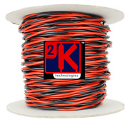 Dcc Concepts Dcw-tw50-2.5 Dcc Layout Twisted Bus Wire 2.5mm X 50m Roll Red/black