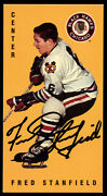 Fred Stanfield 37 Signed Autograph Auto 1994 Parkhurst Tall Boy Hockey Card
