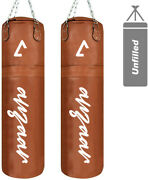 Cowhide Leather 5ft Hanging Heavy Punching Bag For Boxing Sparring Grappling Mma