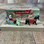 Vintage Lead Rare Barclayone Horse Open Sleigh Near Mint Cond. Great Condition
