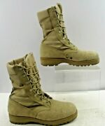 Men's Wellco Desert Leather Military Safety Toe Boots Size 8 R