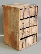 Vintage Crate With 12 Kraft 2 Lb. Wooden Cheese Boxes