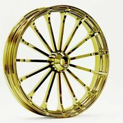 21 X 3.5 Talon Wheel And 120/70-21 Front Tire - Gold - 2000-2020 Harley Touring