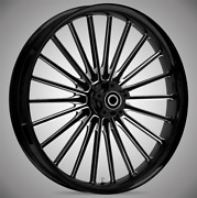 21 X 3.5andrdquo Front Pulse Black Cut Front Wheel Rotors Tire - Harley Touring Bagger