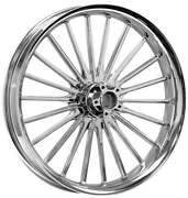 Pulse Chrome 26 X 3.75 Front Wheel - 2000-2020 Harley Touring Bagger Flhx Fltr