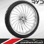 Volt Chrome 26 X 3.75 Front Wheel And Tire Package - 2000-2020 Harley Touring