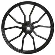 """Phase Black 21x 3.5"""" Front And Rear Wheels - 2000-2020 Harley Touring Bagger"""