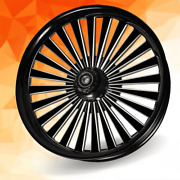 26 X 3.75 Legend Wheel And Front Tire - Black - 00-19 Harley Touring 26-257s-t