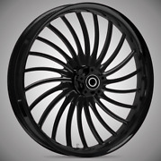23 X 3.75andrdquo Volt Blackline Front And Rear Wheels - 2000-up Harley Touring