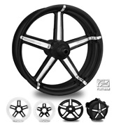 Formula Contrast Cut Platinum 23 Fat Front And Rear Wheels Only 00-07 Bagger