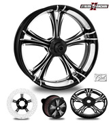 Performance Machine Fierce Contrast Cut 23 Front And Rear Wheel Only 09-19 Bagger