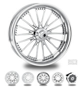 Domino Chrome 21 Front And Rear Wheels, Tires Package Dual Rotors 09-19 Bagger