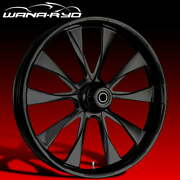 Ryd Wheels Diode Blackline 21 Fat Front And Rear Wheels Only 00-07 Bagger