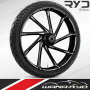 Ryd Wheels Kinetic Starkline 23 Fat Front Wheel And Tire Package 08-19 Bagger