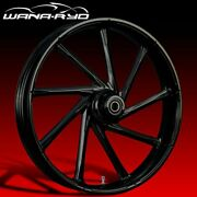 Ryd Wheels Kinetic Blackline 23 Front And Rear Wheels Only 00-07 Bagger