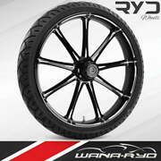 """Ryd Wheels Ion Starkline 23 X 5.0"""" Fat Front Wheel And Tire Package 00-07 Bagger"""