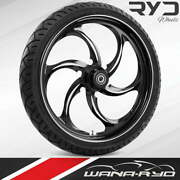 """Reactor Starkline 23 X 5.0"""" Fat Front Wheel And Tire Package 00-07 Bagger"""