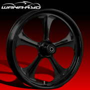 Ryd Wheels Adrenaline Blackline 23 Fat Front And Rear Wheel Only 09-19 Bagger