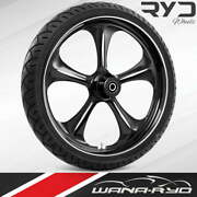 """Adrenaline Starkline 23 X 5.0"""" Fat Front Wheel And Tire Package 00-07 Bagger"""
