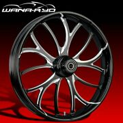 Ryd Wheels Electron Starkline 23 Fat Front Wheel And Tire Package 08-19 Bagger