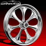 Ryd Wheels Atomic Chrome 23 Fat Front And Rear Wheels Tires Package 00-07 Bagger