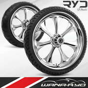 Ato235183frwtdd07bag Atomic Chrome 23 Fat Front And Rear Wheels Tires Package Du