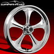 Adrenaline Chrome 23 Fat Front And Rear Wheels Tires Package 00-07 Bagger