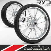 Diode Chrome 18 Fat Front And Rear Wheels Tires Package 13 Rotor 2008 Bagger