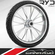 Ryd Wheels Diode Chrome 23 Fat Front Wheel And Tire Package 08-19 Bagger