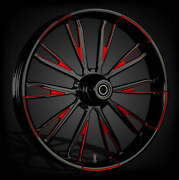 Fat Tire 21 X 5.5 Resistor Dyeline Touch Of Color Red Wheel Package - 2000-19