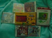 New Nintendo 3ds Super Mario Bros 2 Xl System Gold Limited Edition 6 Games Rare