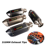 38-51mm Motorcycle Exhaust Tips Scooter Short Muffler Pipe 310mm With Db Killer