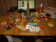 Large Collection Of Vtg Tin Noisemakers.1940s-50s.unusual Ones.kirchhofetc