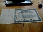 Rare 1900 1000 Share Stock Cert Sig R.fulton Cutting George Foster Peabody.hist