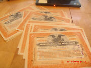 17 Antique 1926 100 Sh American Smelting And Ref Co Signed Cleveland Dodge Stoc
