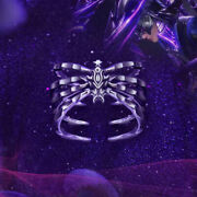 Hot Anime Soul Land 925 Silver Ring Tang San Eight Spiders Spear Cosplay Jewelry