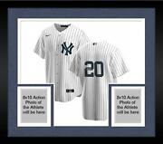 Framed Jorge Posada New York Yankees Autographed White Nike Replica Jersey
