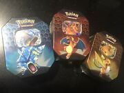 Pokemon Hidden Fates Tins - Lot Of 19 Tins - 9 Are Charizards