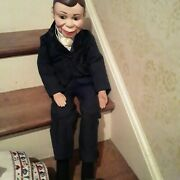 Vintage Charlie Mccarthy Life Size Cloth Doll Puppets Dressed In Org Outfit, Gi