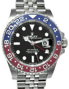 New Rolex Gmt-master Ii Steel And Ceramic Pepsi Watch Bandp And03921 126710blro