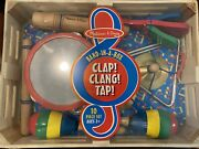 Melissa And Doug Clap Clang Tap Band-in-a-box 10 Pcs Set New Music Pre-school