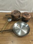 """Mauviel Antique Vintage Pan Cookware Stamped Mauviel 2mm 12"""" Fry Pan Saute Pan"""