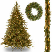 6and039 Feel-real Frasier Grande Hinged Tree With 6and039 X 12 Decorative Collection...