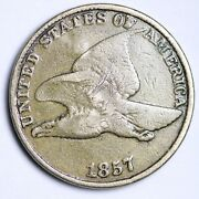 1857 Of Doubling Flying Eagle Cent Penny Choice Vf Free Shipping E102 Jt