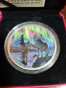 Northern Lights In The Moonlight 2016 Glowing 30 Silver Coin, 2 Oz.